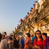 Watching sunset from atop one of the stupas is a popular thing to do.