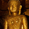 This Buddha shows what happens when thousands upon thousands of visitors add their gold foil to the statue- over time the encrusted statues begin to look like they have a skin disorder- a golden disorder