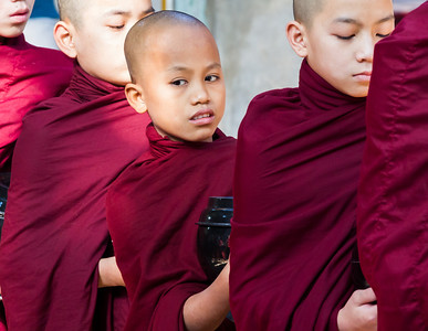 The monks could be as young as 9 years old.