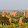From atop one of the Bagan pagodas that can still be climbed, one can see hundreds of stupas of various sizes out to the horizon