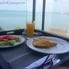 Room service breakfast on the balcony