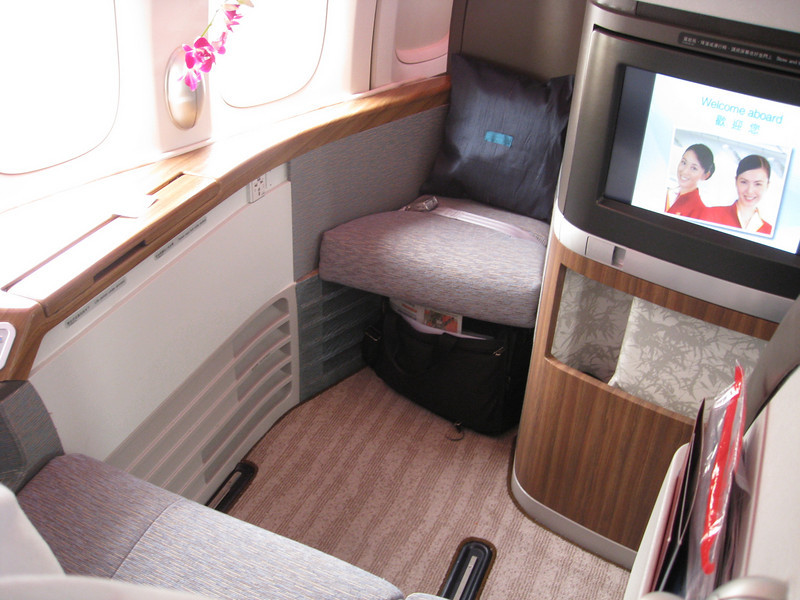 "My ""suite"" on Cathay Pacific"