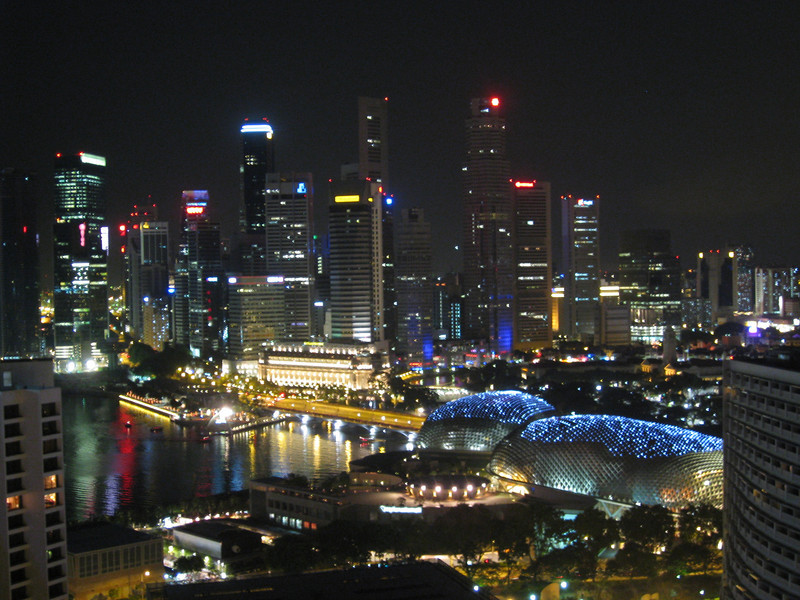 Singpaore at night