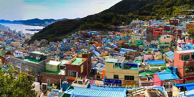 the old refuge village in Busan, Korea. Now a iconic landmark