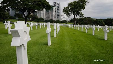 the US cemetery in Manila