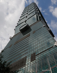 Taipei 101, world's tallest building from 2004 to 2010, 10 stories.