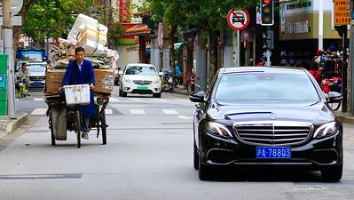 no shortage of Mercedes in Shanghai