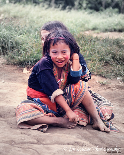 Hill tribe girls in Northern Thailand