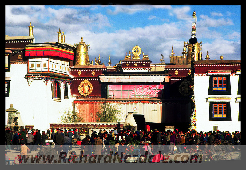 The Jokhang Temple in Lhasa Tibet.
