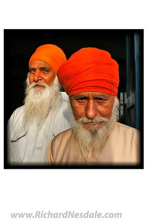 Sikh men in India.