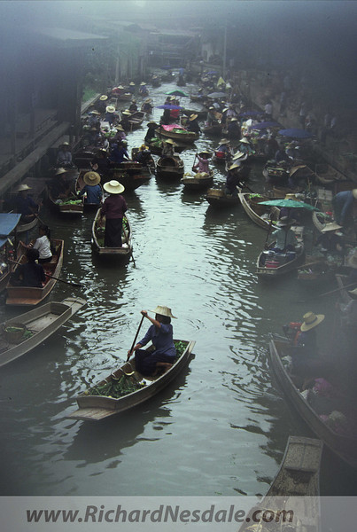The Floating Market - north of Bangkok, Thailand.