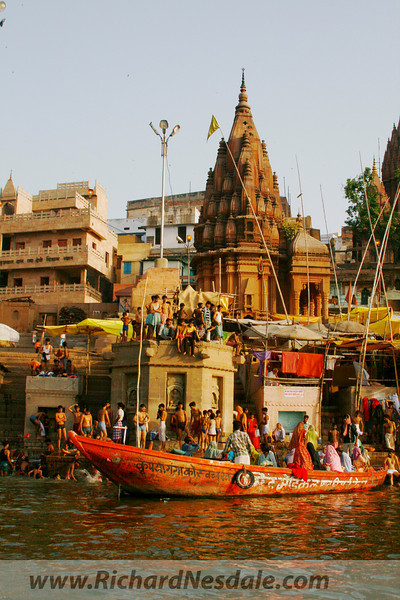 Varnasi (Benares) India. On the Ganges River. (aka Ganga River)