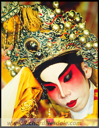 Chinese opera performer in Kunming, China.