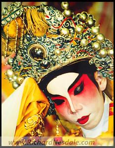 Chinese opera performer in Kunming, China.