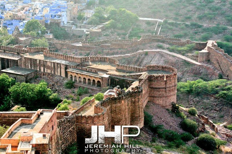 """Meherangarh Fort Wall"", Meherangarh Fort, Jodhpur, Rajasthan, India, 2007 Print IND3920-376"