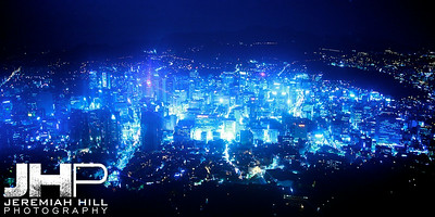 """Seoul In The Key of Blue At Night"", Seoul, South Korea, 2009  Print KOR3B94-014V3"