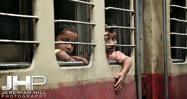 """Boys On A Train"", Pathankot, Punjab, India, 2007 Print IND399-024"