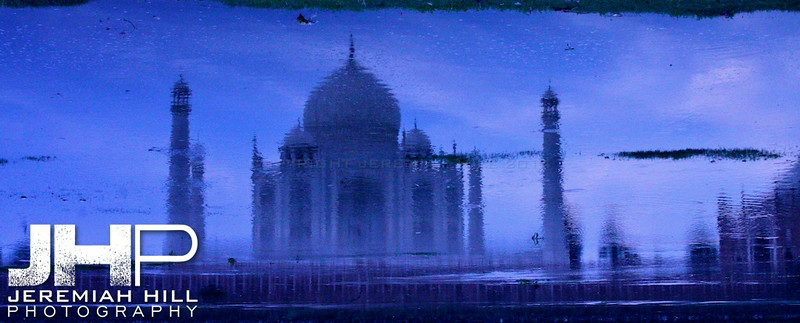 """Blue Taj On Water Canvas"", Agra, Uttar Pradesh, India, 2007 Print IND385-279V4"