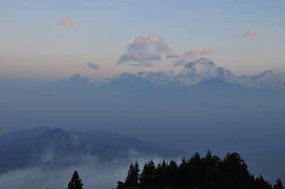 Sunrise View From Poon Hill Towards Annapurna Range, Nepal