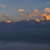 Sunrise View From Poon Hill Towards Annapurna Range,<br /> Nepal