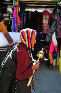 Pilgrim in Barkhor, Lhasa, Tibet