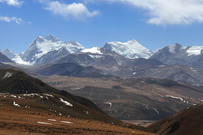 Mountain Range On The Way To Nepal, Tibet