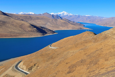 Nam Tso Lake (I Think), One Of The Highest Salt Water Lakes In The World,  Tibet