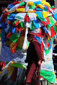 Pilgrim, Barkhor,  Lhasa, Tibet