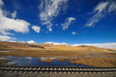 View From The Qinghai to Lhasa Train, Tibet