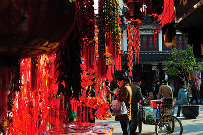 Chinese New Year Decorations, Shanghai, China