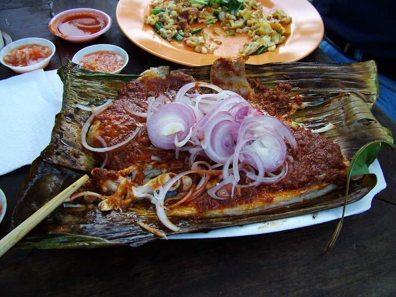 Stringray with chili paste and onions - excellent!