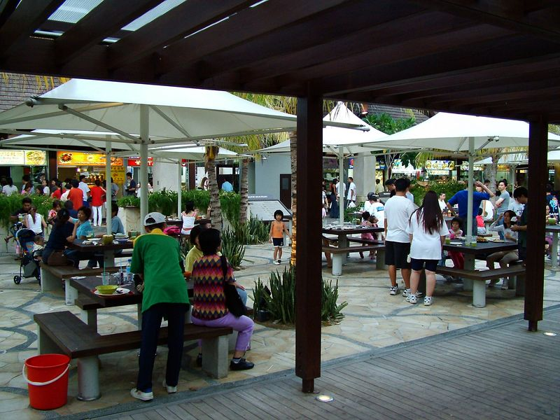 Another shot of outdoor eatery