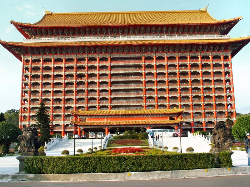 The Grand Hotel in Taipei - we didn't stay here, just stopped to take pictures.