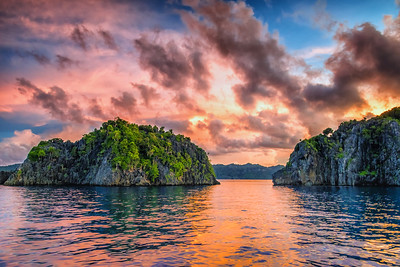 Sunset at raja Ampat