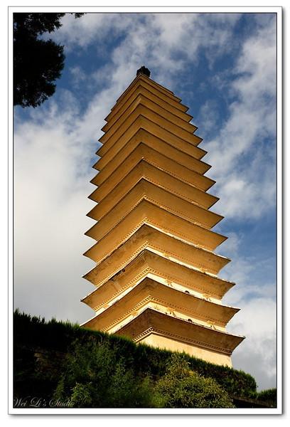 大理三塔(three towers, DaLi, Yunnan, China)