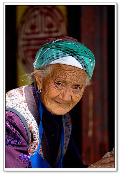 91岁白族老人(91 year-old lady, bai nationality, DaLi, Yunnan, china)