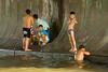 IMG_1872-1<br /> Kids playing in the Chao Praya River in Bangkok