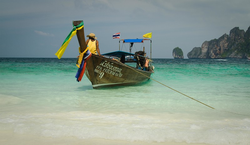 Phi Phi Island, Thailand Long boat, used all through Thailand as fishing boats and water taxis
