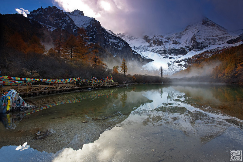 日出中的仙乃日, 摄于珍珠海(Xiannairi Mountian in early morning, Yading, Sichuan, China)