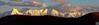 贡嘎日落, 摄于新都桥一无名小山上(Sunset at Gongga mountain, Sichuan, Yunnan)