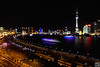 上海夜色, 摄于外滩18号(shanghai night sky, china)