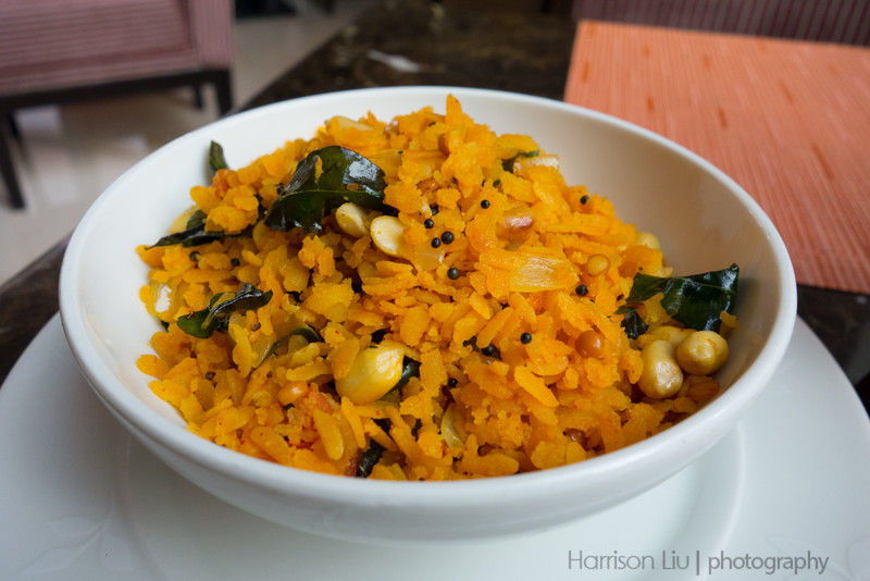 Poha. Delicious for breakfast.