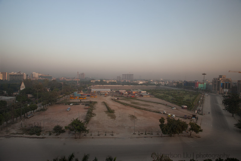 View from the hotel room in Noida.