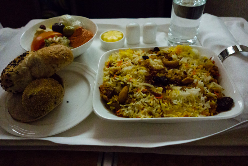 Biryani on the flight over. Delicious.