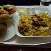 Biryani on the flight over. Delicious.