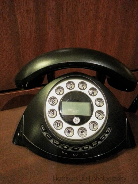 This was the fancy telephone in the hotel elevator lobby.
