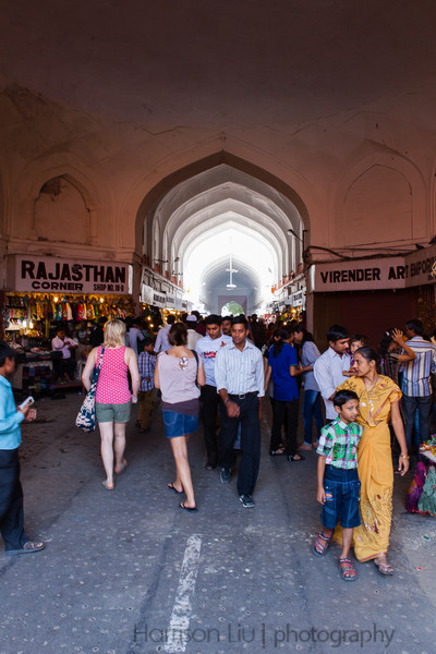 Marketplace within the Red Fort.