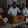 Music outside of a temple and a mosque at Nizamuddin.