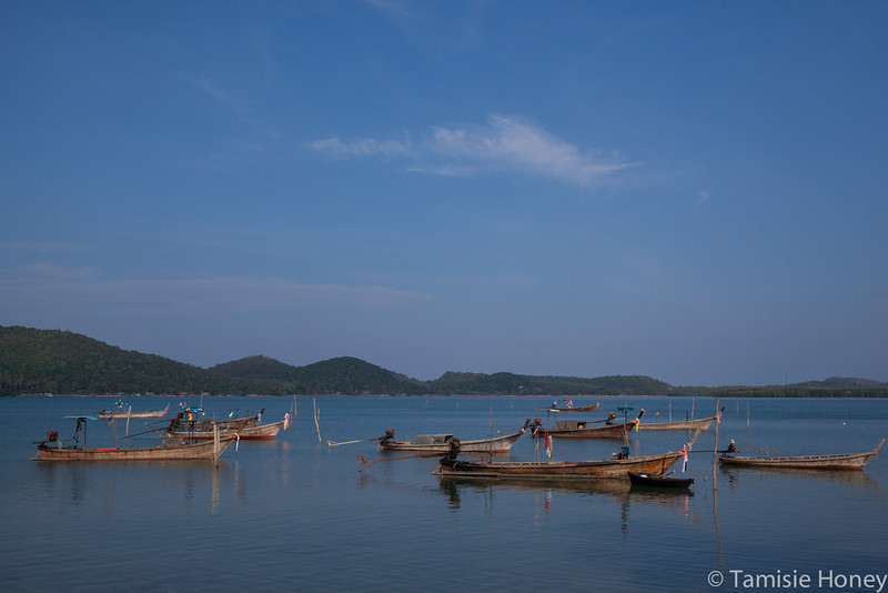 At anchor, Muslim fishing village Ko Yao Yai