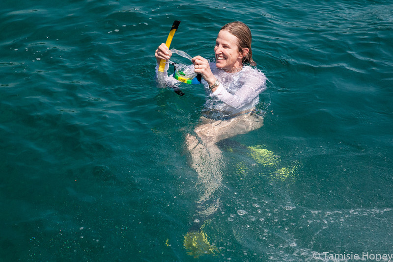 Leslie Will snorkeling